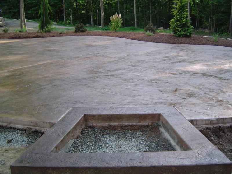 Samless Slate texture with saw-cut lines with built-in fire pit