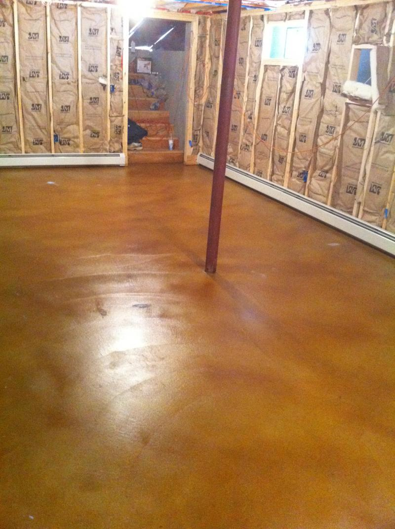 Stained Concrete Barrington RI artistic concrete rhode island